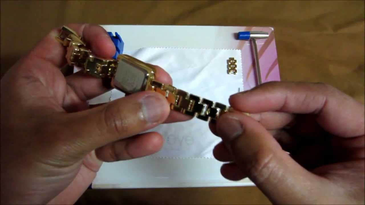 How to adjust anne klein watch bands the easy way youtube for Anne klein y121e