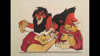 Lion King - Speed Drawing