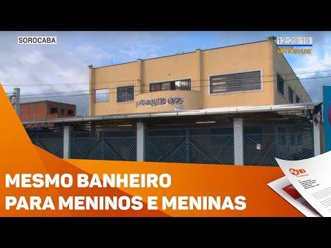 Meninos e Meninas dividem o mesmo banheiro em escola - TV SOROCABA/SBT