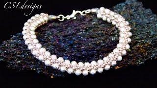 Elegant beaded kumihimo bracelet
