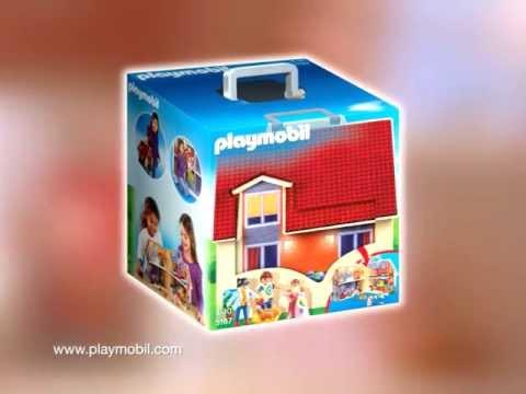 Playmobil casa de mu ecas malet n espa ol youtube for Casa maletin playmobil