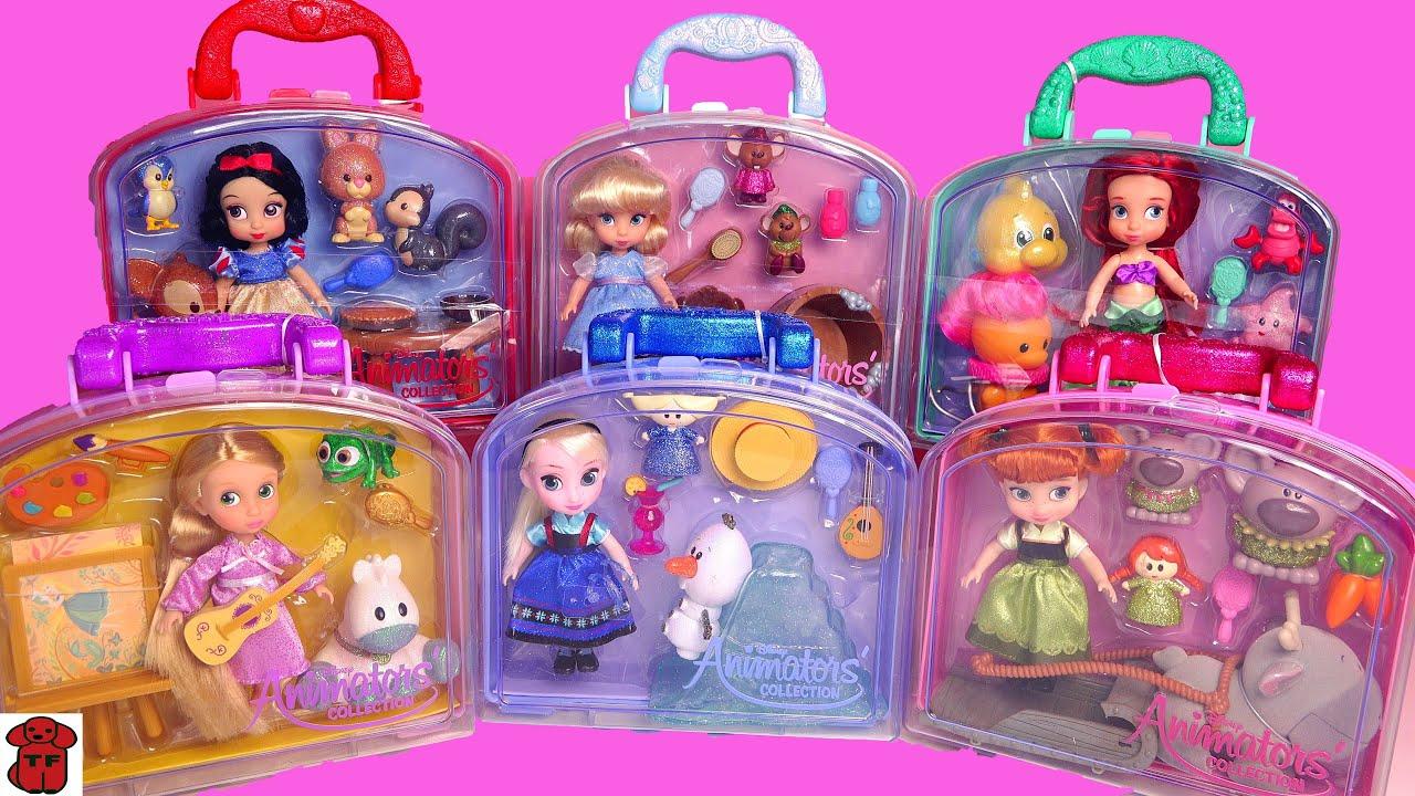 Download 베이비돌~라푼젤,백설공주,엘사,에리얼..미니베돌 개봉기★Disney Animators' Collection Mini Doll Play Sets!ELSA,ARIEL,RAPUNZEL