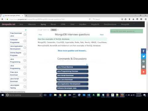 Give few examples of NoSQL database. | javapedia.net