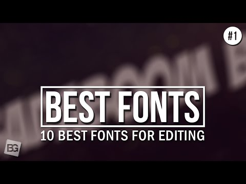 10 Best Fonts For Editing #1