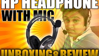 hp on ears headphone with microphone b4b09pa   unboxing and review   2016