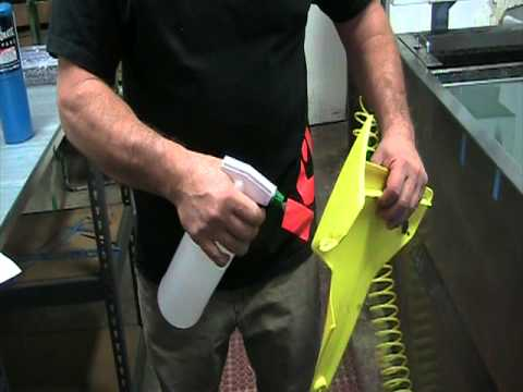 demonstrates how to prep polypropylene plastic for paint youtube. Black Bedroom Furniture Sets. Home Design Ideas