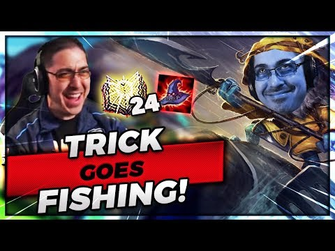 TRICK GOES FISHING WITH FIZZ! | 25 STACKS ONE SHOT! - Trick2G