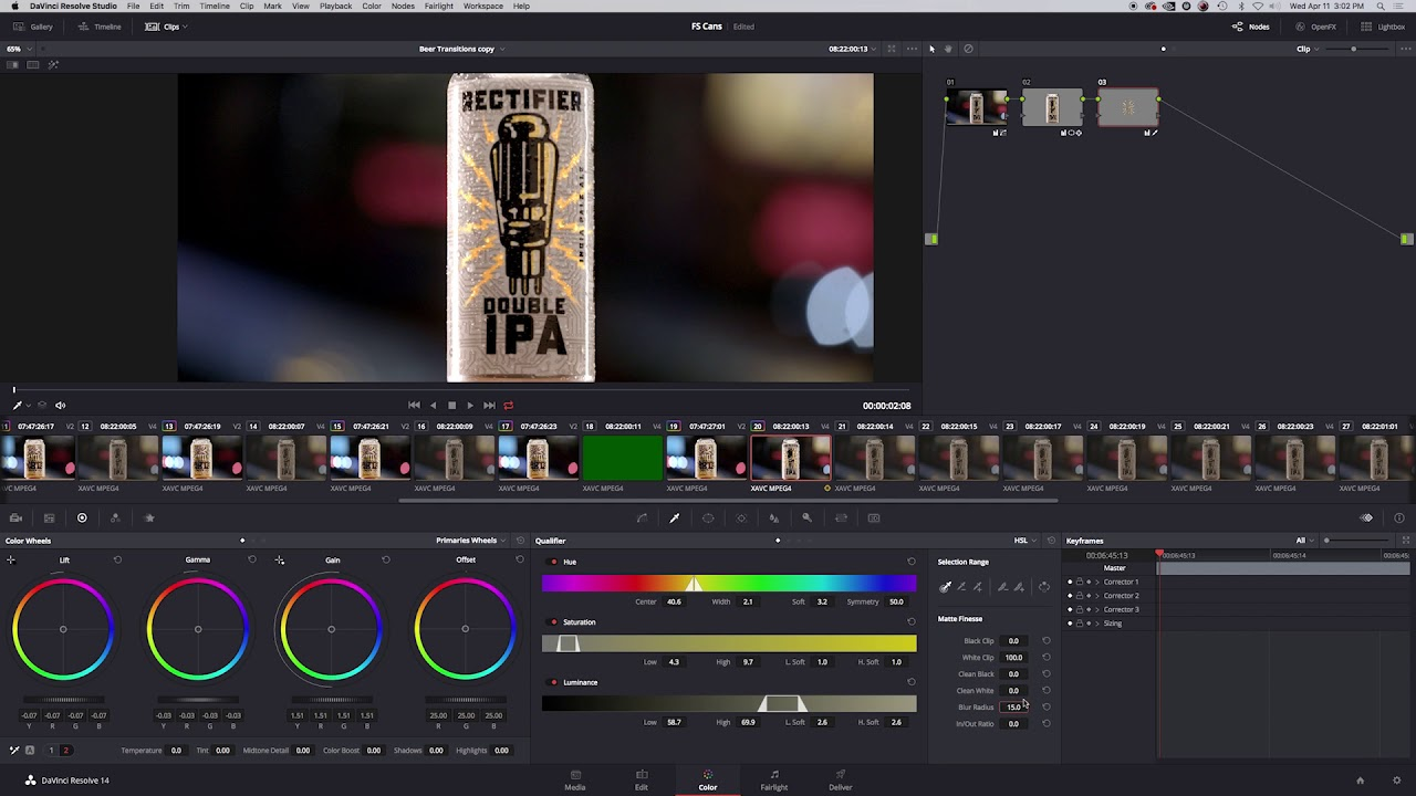 Inside Vital: Color Grading | Four String Brewing Co.