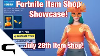 Fortnite Item Shop SUNBIRD SKIN IS *BACK*! July 28th 2019 - Fortnite Battle Royale