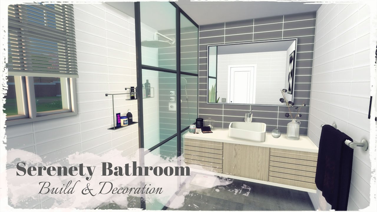 Sims 4 Serenety Bathroom Build Decoration Youtube