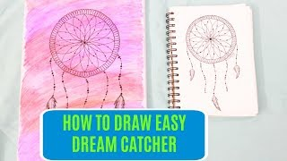 How to draw easy Dream Catcher | D Crafty