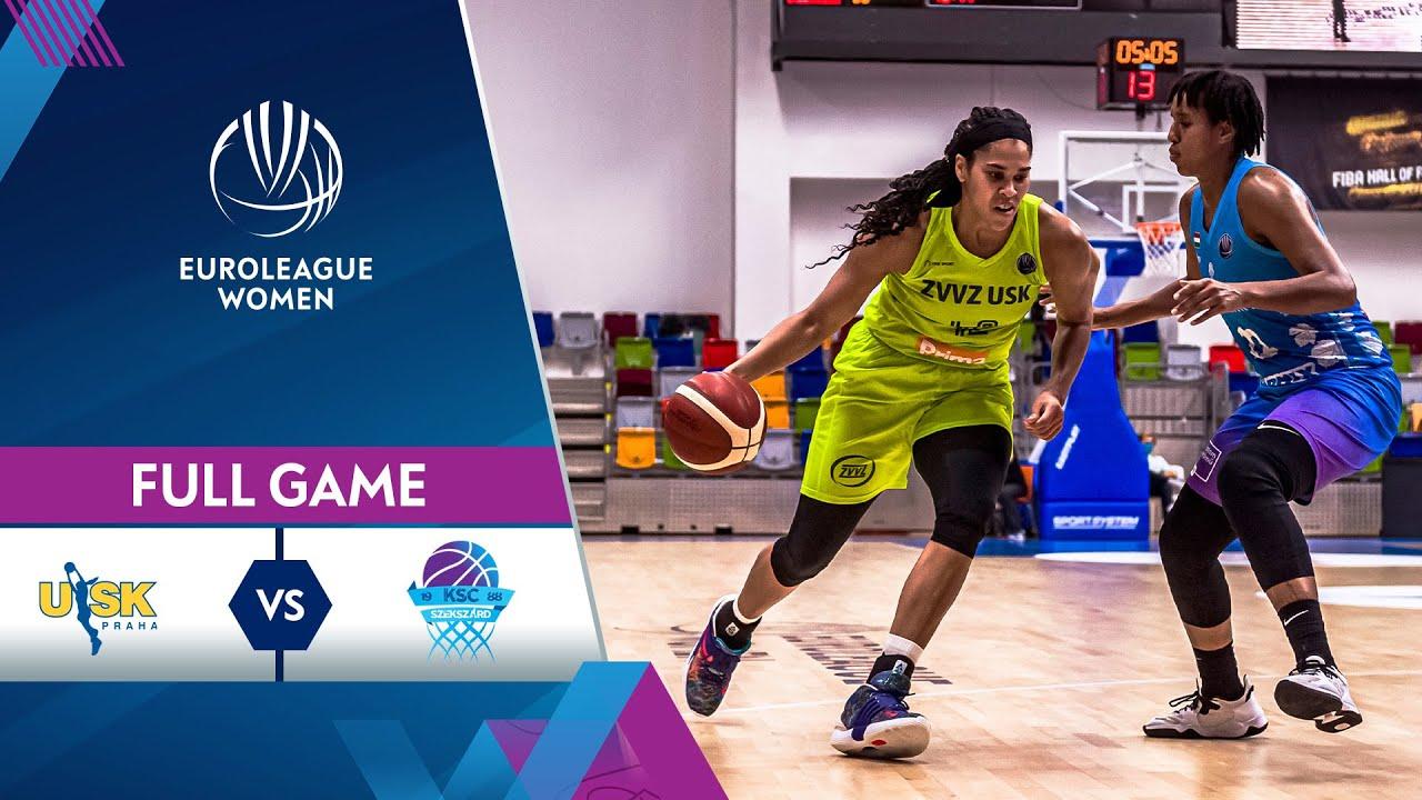 LIVE - ZVVZ USK Praha v KSC Szekszard | EuroLeague Women 2021-22
