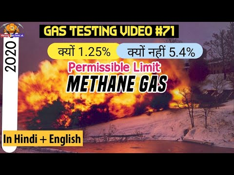 Why Methane has 1.25% permissible limit ? Why not 5.4% || Gas testing videos 2020