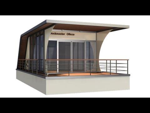 Floating Marinas. Dockmaster Office. AEEA. Designing, Diseñando. Marinas Flotantes. Hnos. Arderíus