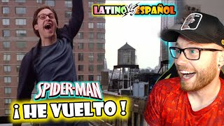 Español REACCIONA a DOBLAJE LATINO de SPIDERMAN ???? He Vuelto, He Vuelto a Caer ???? LATINO vs CASTELLANO