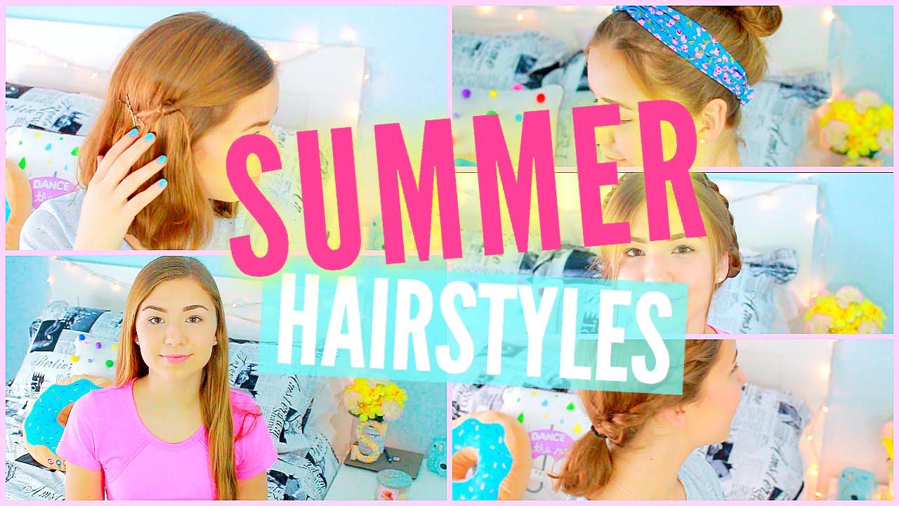 10 Summer Hairstyles Long Short Hair Tumblr Inspired Ideas Youtube