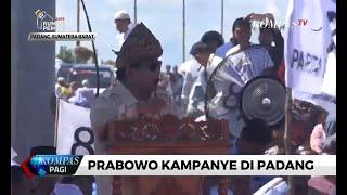 Kampanye di Padang, Prabowo Imbau Pendukung Jaga TPS & Kantor Kecamatan saat Pemilu