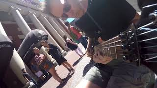 All along the watchtower - Girls make out on street to Hendrix jam!