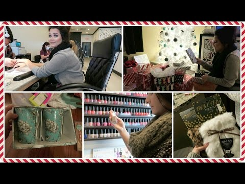 Vlogcember Day 21, 2015 | Nail Date With Kenz & TJMaxx HAUL!