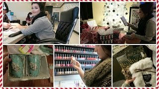 Repeat youtube video Vlogcember Day 21, 2015 | Nail Date With Kenz & TJMaxx HAUL!