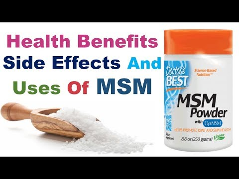 HEALTH BENEFITS, SIDE EFFECTS AND USES OF MSM SUPPLEMENT