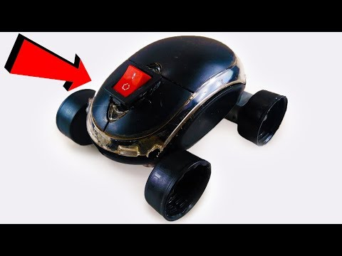 How to make a MINI Electric CAR with MOUSE easy Science Projects For KIDS DIY at HOME