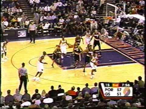NBA Portland trailblazers vs Golden state warriors 2000-2001