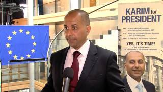 Sajjad Karim MEP speaking after European Parliament presidential elections