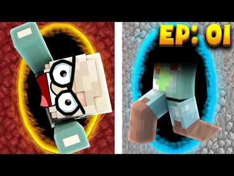 Minecraft: GIRLFRIEND GETS STUCK IN A PORTAL!! - Crazie Craft Ep: 01