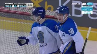 Шайба.kz / Никита Михайлис забивает гол в ворота олимпийской сборной Кореи