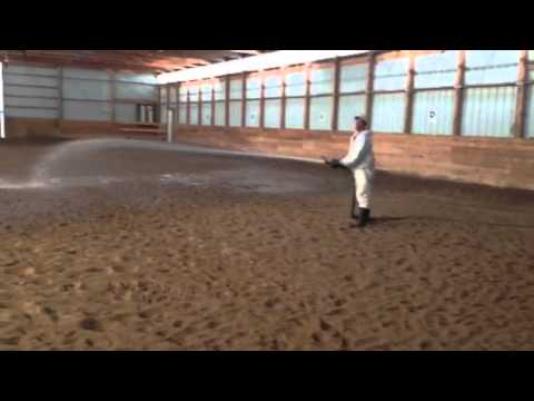 Magnesium Chloride Spray Dust Control In Horse Arena