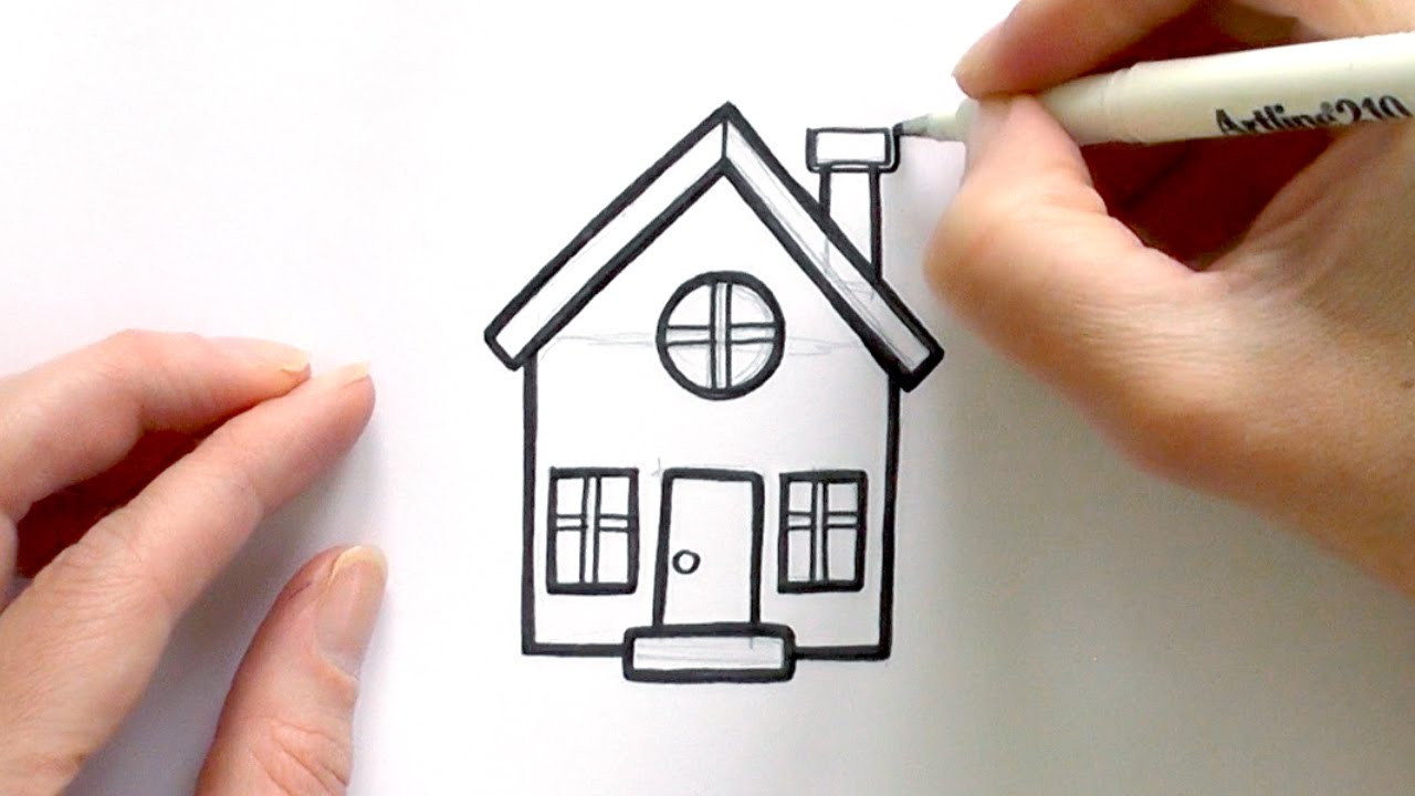 How To Draw A Cartoon House