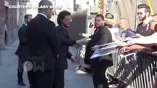 Kit Harington Adorable Reaction To Fans Outside 'Jimmy Kimmel Live!'   Game Of Thrones Season 7