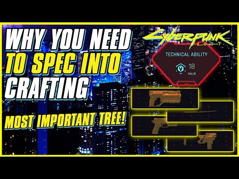 WHY CRAFTING IS THE BEST SKILL TREE IN CYBERPUNK 2077   How To Craft Rare Mods   Crafting Guide