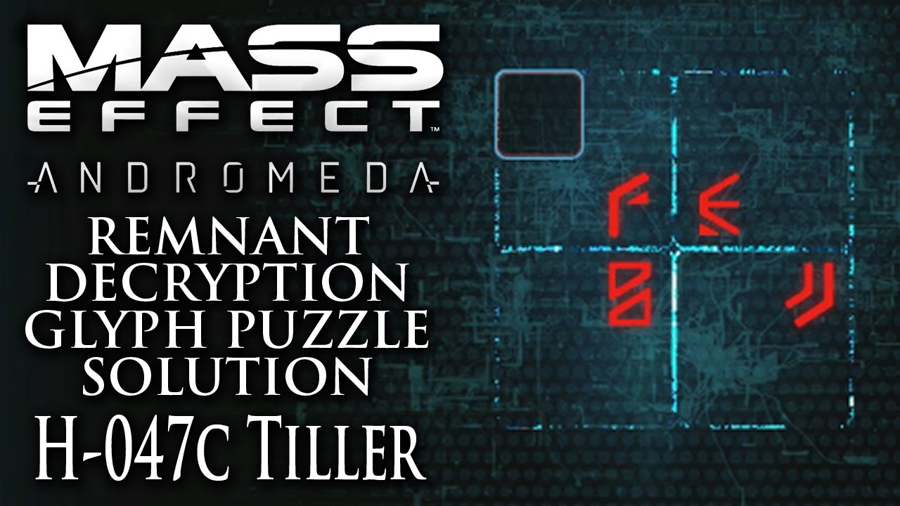 Mass Effect Andromeda Remnant Decryption Glyph Puzzle Solution