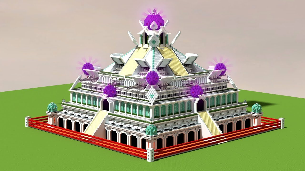 Building A Modern Aztec Temple In Minecraft Epic Build Youtube