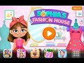 Sophia's Fashion House TutoTOONS Educational Android İos Free Game GAMEPLAY VİDEO