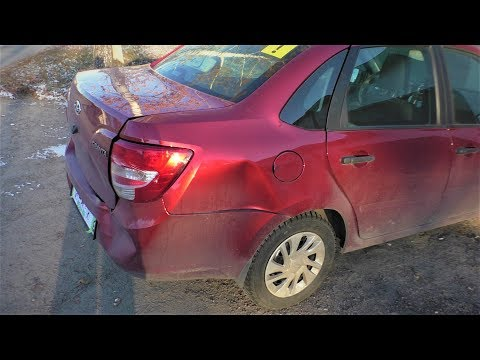 Гранта ремонт крыла тянем лонжерон Нижний Новгород Lada Granta Auto body repair