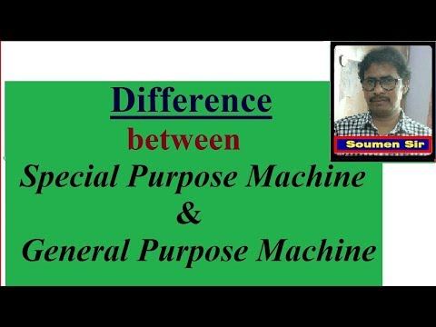 Difference Between Special Purpose Machine And General Purpose Machine