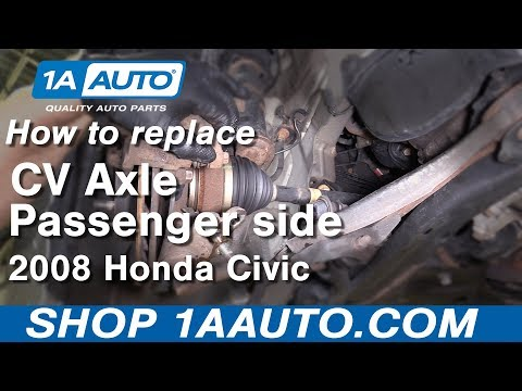 How to Replace Passenger Side CV Axle 06-11 Honda Civic