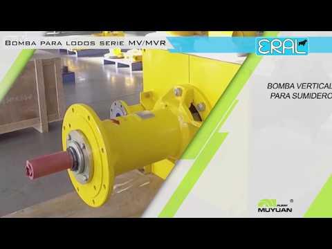 Bomba centrifuga vertical  para lodos y pulpas funcionamiento 👷 thumbnail