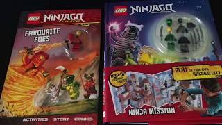 Two New LEGO Ninjago Books with Minifigures