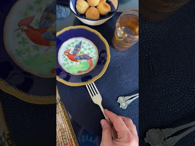 Desayuno azul para 2!