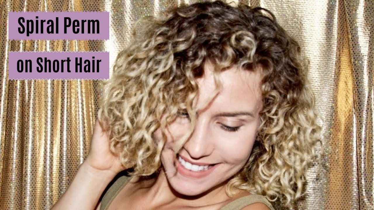How I Perm My Short Hair Curly Hair Routine Update Youtube