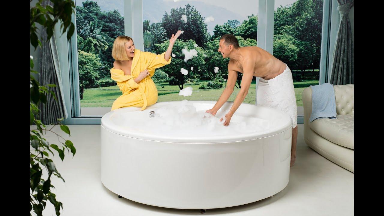 Allegra By Aquatica Round Freestanding Bathtub Infomercial