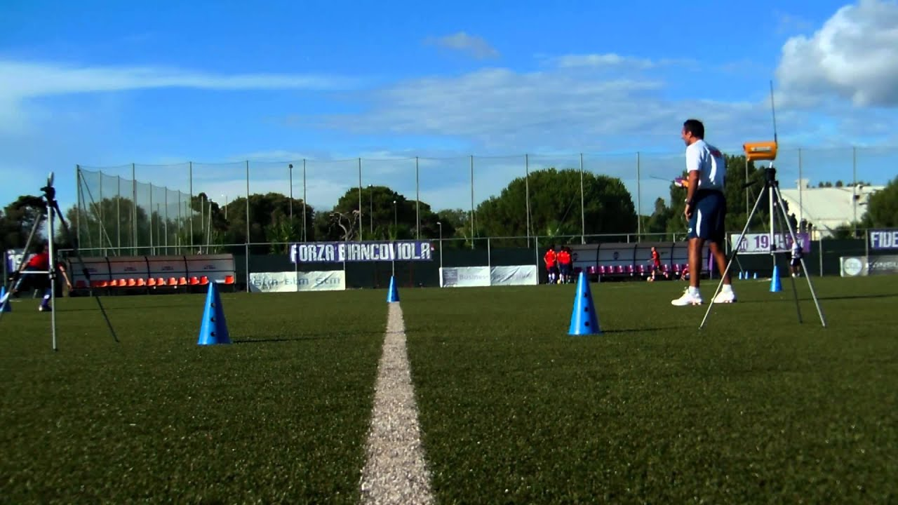 Tape Measure Test >> T-test soccer agility - YouTube