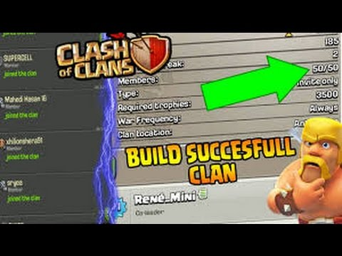 Clash of clans- How to get 50/50 members in JUST 10 Minutes ✓