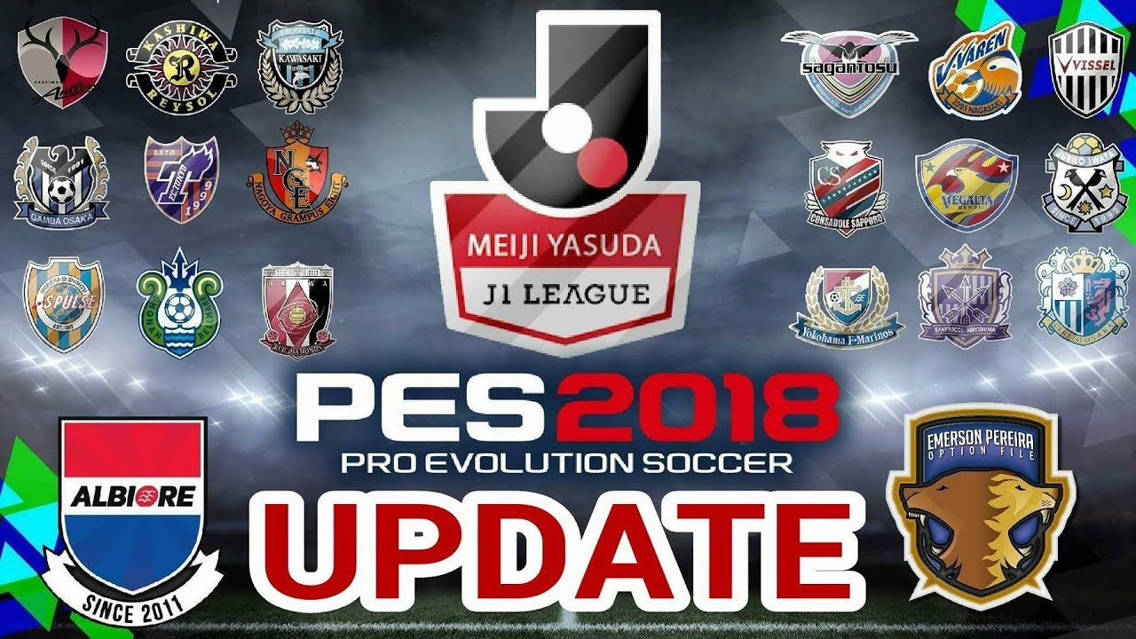 PES2018[PS4] OPTION FILE UPDATE J-LEAGUE PARA V5 - BY ALBIORE