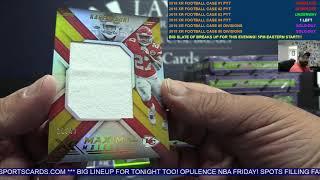 2018 Panini XR Football 15 Box Case Break #3