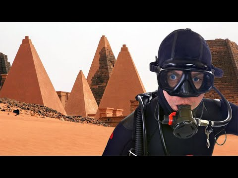 """Divers Enter Underwater Tomb in Pyramids of Mysterious """"Black Pharaohs"""""""